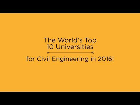 Top 10 Universities for Civil Engineering in 2016