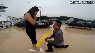 ROMANTIC PROPOSAL VIDEO of a CREW in a CRUISE SHIP
