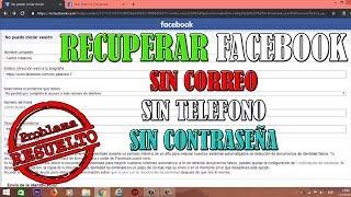 Como Recuperar tu Facebook Sin Correo, Sin Teléfono y Sin Contraseña | MÉTODO 2019 | RESUELTO |