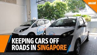 How does Singapore keep cars off the road?