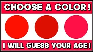 This Color Test Will Try To Guess Your Mental Age!