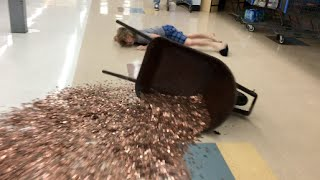 Falling With 30,000 Pennies