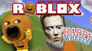 Annoying Orange Plays - Happy Wheels: ROBLOX Levels!