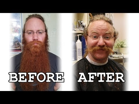SHAVING MY BEARD AFTER 911 DAYS. MY WIFE S REACTION.