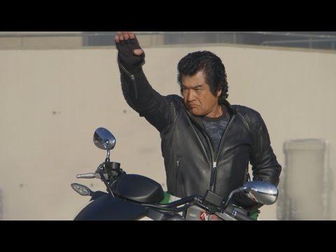 本郷猛がネオサイクロンにまたがる!「帰ってきたよ、おやっさん」映画「仮面ライダー1号」予告編  Takeshi Hongo  movie