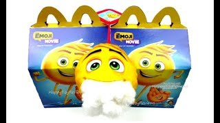 DO NOT ORDER THE EMOJI MOVIE HAPPY MEAL TOYS McDONALD'S BOOKS WHAT'S INSIDE GENE PLUSH CUTTING OPEN