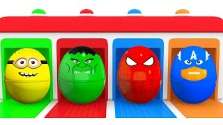 Learn Kids Colors With Cars and Superhero Surprise Eggs - Color for Children Learning Video