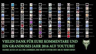 Ich DANKE euch für das Jahr 2016 auf Youtube!