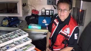 Botiquin de medicamentos de ambulancia de cuidados intensivos