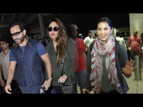Xxx Mp4 Airport Spotting 31st May 2016 Sunny Leone Saif Ali Khan Kareena Kapoor Siddharth 3gp Sex