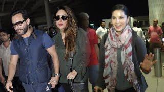 Airport Spotting 31st May 2016 | Sunny Leone, Saif Ali Khan, Kareena Kapoor, Siddharth
