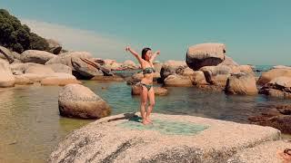 Beautiful Asian girl on the beach