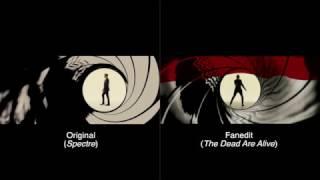 The Dead Are Alive (Spectre fanedit) - Gun barrel comparison