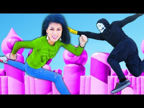 WE BATTLE HACKERS in WORLD S BIGGEST BOUNCE HOUSE to REVEAL Secret Files of Daniel s Memory