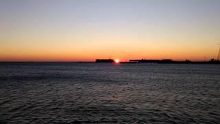 Video 4k Sunrise of 26 December 2014 Baku Azerbaijan