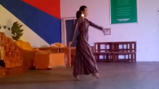 Tenzin mariko Bhutanese dance (SHA DANG THRA)in bylakuppe 2016