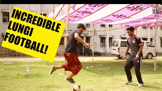 Incredible Football in Lungis | Funny Bangla Video 2017