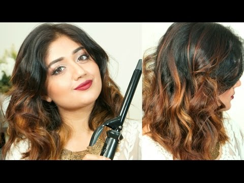 Trying to Curl my hair | Messy Curls for Beginners | corallista