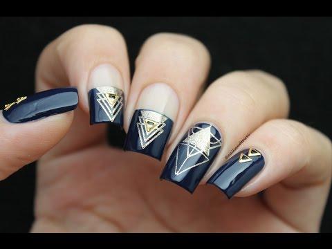 Xxx Mp4 Geometric Stamping Nail Art Tutorial 3gp Sex