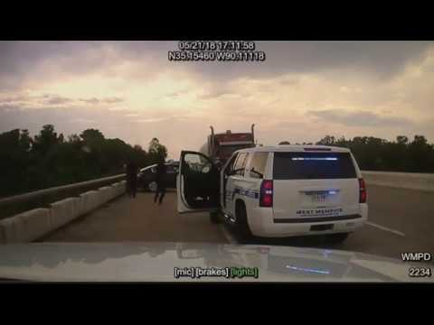 Dashcam Video Arkansas Police Chase and Shooting