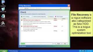 How to remove File Recovery virus (fake HDD program)
