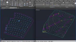 شرح كيفية الحصول على احداثيات الرفع الطبوغرافي + الخريطة الطبوغرافية من Autocad block