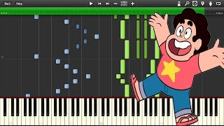Steven Universe - Theme song (Intro) [Extended version] - Piano tutorial (Synthesia)
