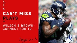 Russell Wilson & Jaron Brown Connect for Seattle