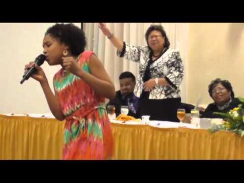 11 yr old Jayna sings Take Me to the King Tamela Mann