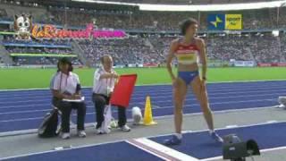 Mondiali Atletica Berlino 2009: Finale salto in lungo Donne - Tatyana Lebedeva argento 6.97