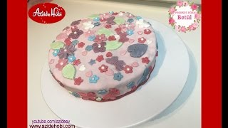 Fondantli cicekli kelebekli Pasta Tarifi / Azide Hobi