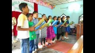sunday school kids of nepali baptist church, chumukedima, dimapur, nagaland