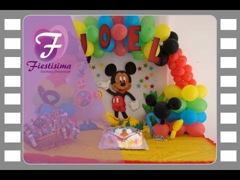 Decoracion infantil Mickey Mouse