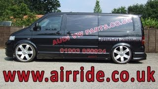Airride - Driving the VW Transporter T5 on Full Air Suspension as installed by airride.co.uk