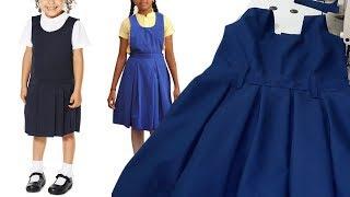 School Uniform Pinafore Stitching Tailoring Classes Girls School Pinoform Dress