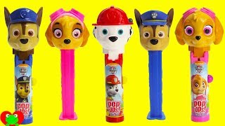 Paw Patrol Lolli Pop Ups and Pez Candy Dispensers