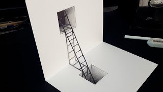 How To Draw 3d Steps Easy Trick Art Playithub Largest Videos Hub