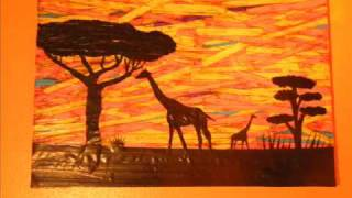 Duct Tape Art : Stuck on Africa (African Landscape)