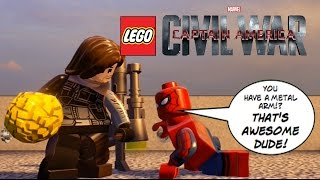 EPIC BATTLE! Spider-Man vs Bucky (Winter Soldier) - Lego Marvel: Civil War