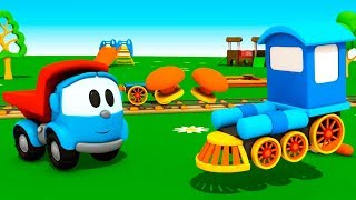 Cartoon Cars & Animation for kids. Leo the Truck cartoon for kids: Locomotive. Cartoons for children