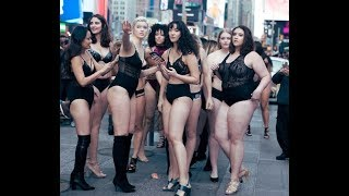 Models walked through Times Square naked to 'spread body positivity'