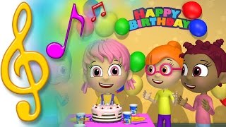 TuTiTu Songs | Happy Birthday Song Ver.2 (New Animation) | Songs for Children with Lyrics