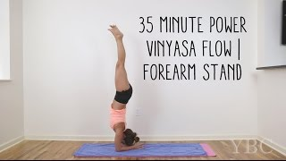35 Minute Power Vinyasa | Forearm Stand