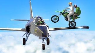 BIKERS vs. PLANES! (GTA 5 Funny Moments)