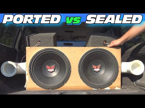 Ported vs Sealed Subwoofer Box w Adjustable Port Tuning & CLEAN Car Audio Install LOUD BASS