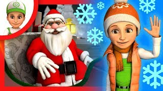 Cartoon for children - Handy Andy helps Santa Claus to carry Christmas gifts to children