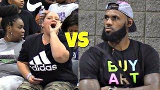LeBron James Jr SHUTS UP Heckler! USBA Nationals 2018