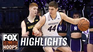 Northwestern vs Maryland | Highlights | FOX COLLEGE HOOPS