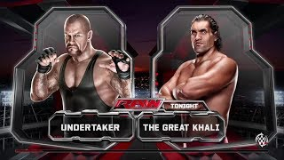 THE GREAT KHALI VS UNDERTAKER 2013 MAY 12