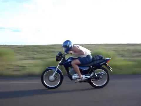 corrida de moto na ida pra EAFA